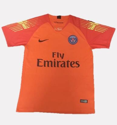 PSG Goalkeeper Soccer Jerseys 2018-19 Orange Football Shirts